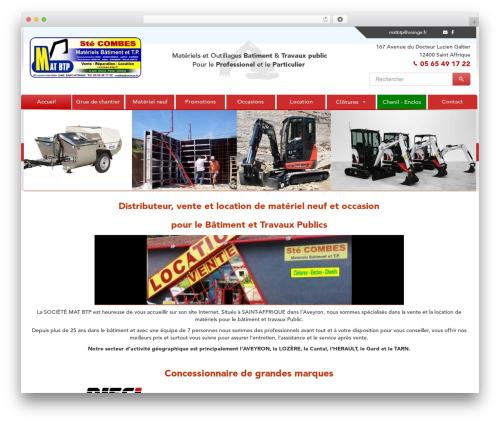 Theme BMS template WordPress - combes-btp.fr