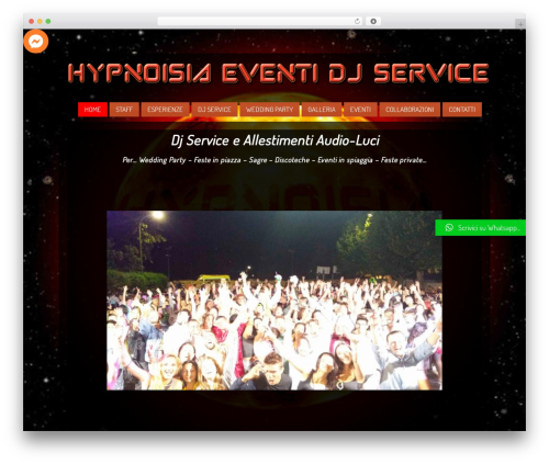 WordPress theme Clubber (Share On Theme123.Net) - hypnoisia.com