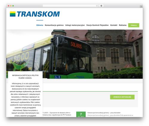 WordPress website template Avada - transkom.com.pl