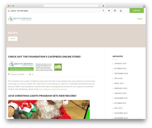 Charity WPL WordPress website template - mostynmoreno.org