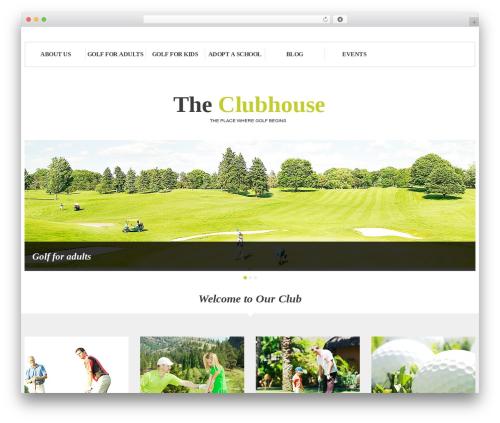 cherry top WordPress theme - theclubhouse.golf