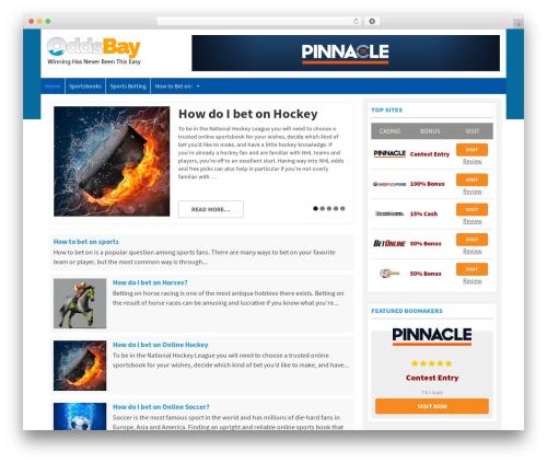 Spread II Theme WordPress template - oddsbay.com