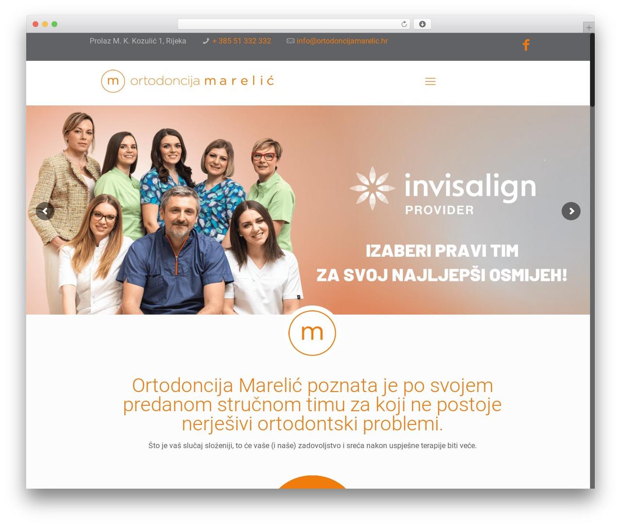 Betheme WordPress website template - ortodoncijamarelic.hr