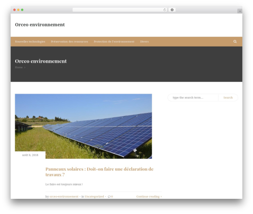 NatureMag Lite free WordPress theme - orceo-environnement.com