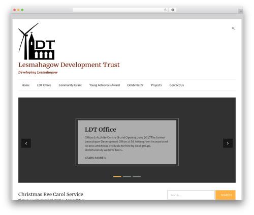 Speedy company WordPress theme - lesmahagowdevtrust.com