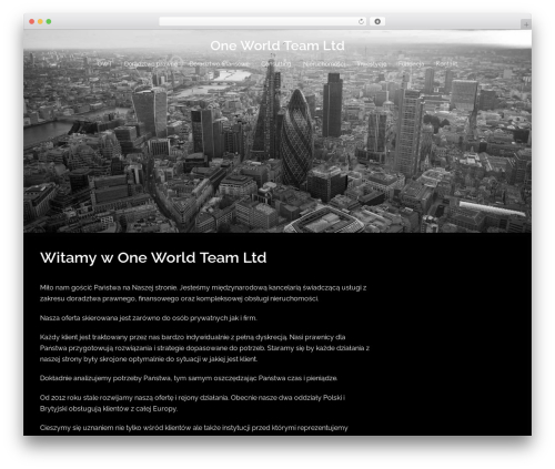 Sydney template WordPress free - owteam.pl