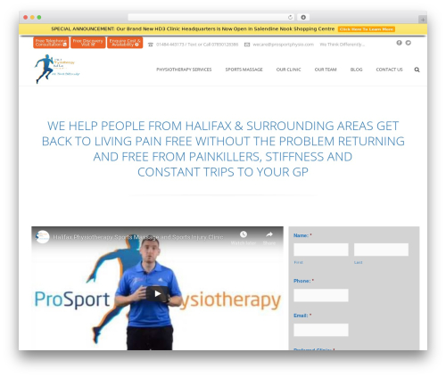 WordPress website template Jupiter - physiotherapisthalifax.co.uk