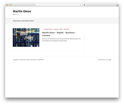 Gatsby free WP theme - martingiese.com