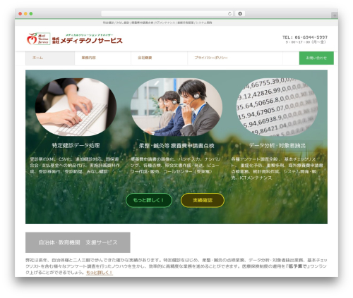 LIQUID CORPORATE WordPress website template - medi-ts.com