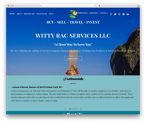 Themify Simple top WordPress theme - wittyracservices.com