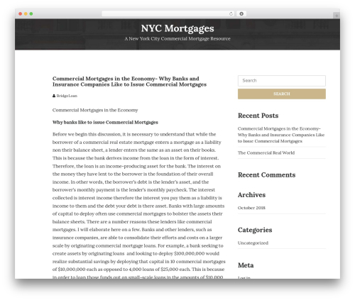 UNISCO WordPress page template - nycmortgages.net
