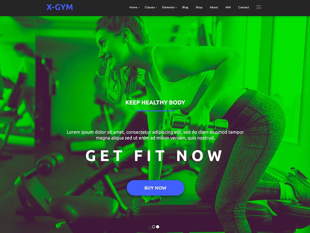 XgymWP fitness WordPress theme