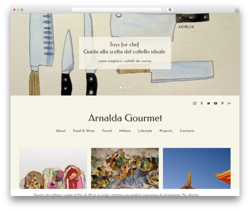 Avada food WordPress theme - arnaldagourmet.com