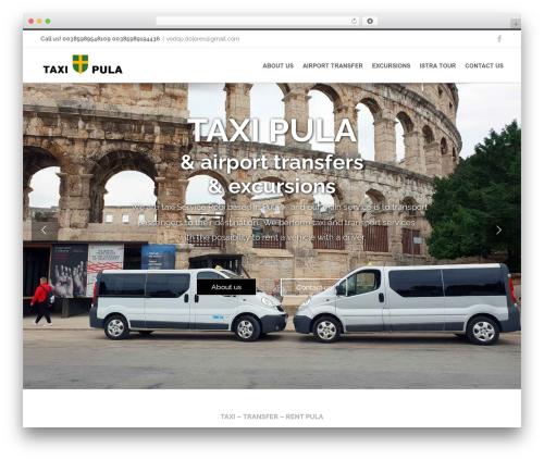 Avada WordPress theme - taxi-pula-transfer.com