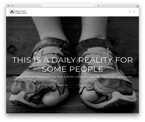 Avada WordPress theme - claycountyclothescloset.org