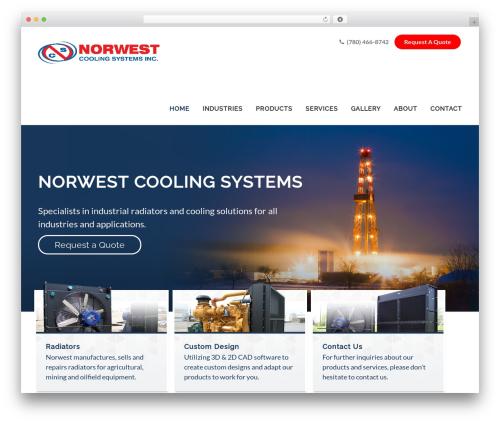 Avada WordPress website template - norwestcooling.com