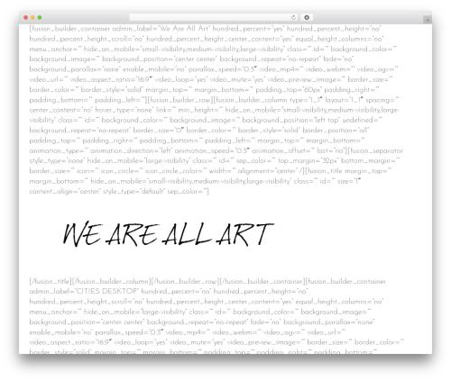 Avada WordPress website template - weareallart.org