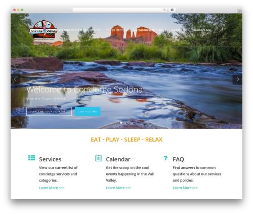 Salient WordPress theme - conciergesedona.com