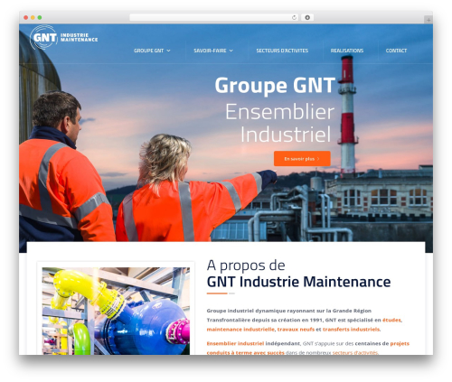 Tectxon best WordPress template - gnt.fr