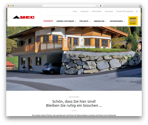 TheBuilt WordPress theme - auerbau.at