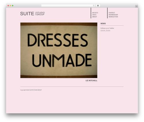 Theme WordPress SUITE - suite-studiogroup.co.uk