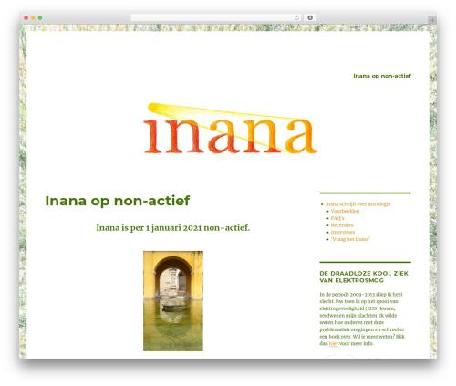 Twenty Sixteen free WordPress theme - inana.nl