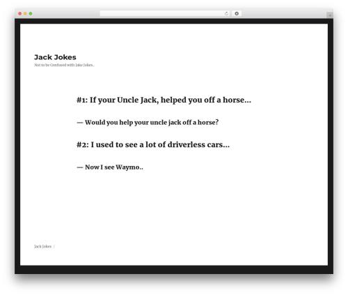 Twenty Sixteen theme free download - jackjokes.com