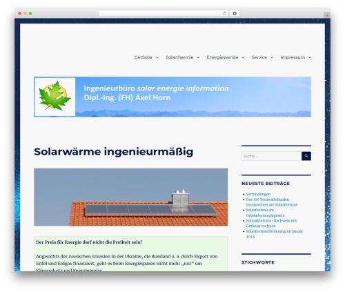 Twenty Sixteen WordPress template free - ahornsolar.de