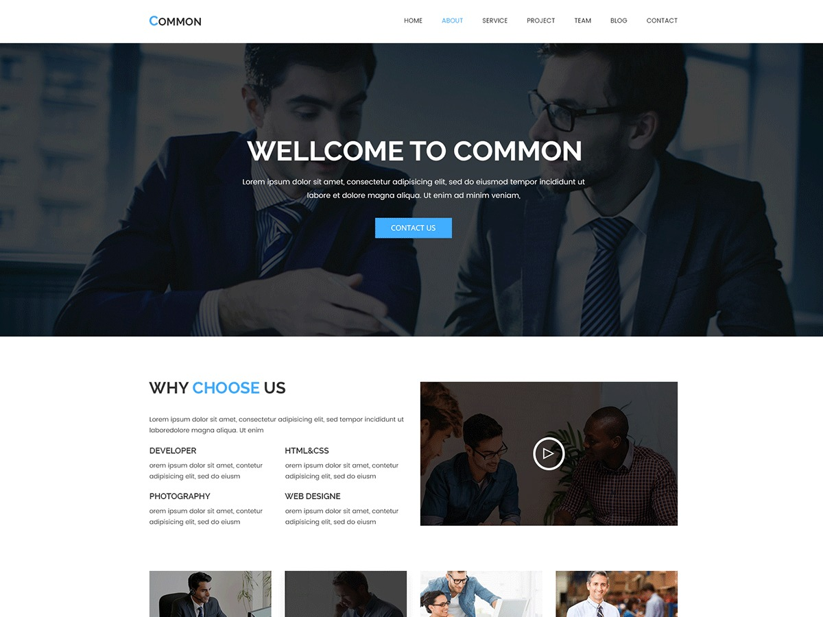 WordPress theme Common Child