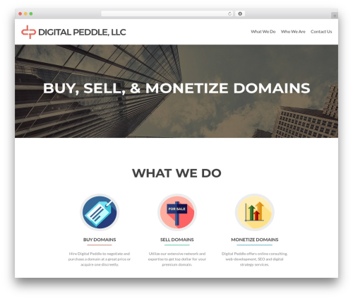 Zerif Lite theme WordPress - digitalpeddle.com
