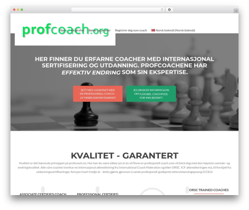 Zerif Lite WordPress theme - profcoach.no