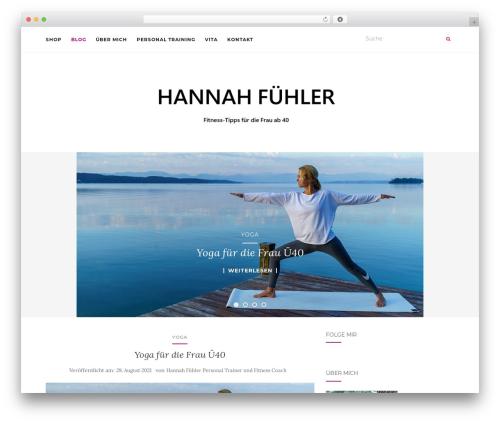 Activello WordPress template free - hannah-fuehler.de