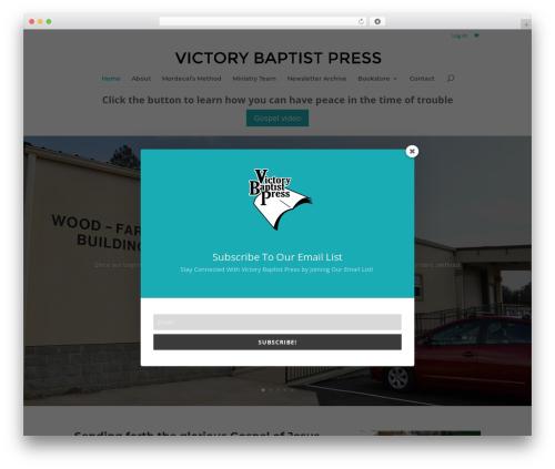 Divi WordPress shopping theme - victorybaptistpress.com