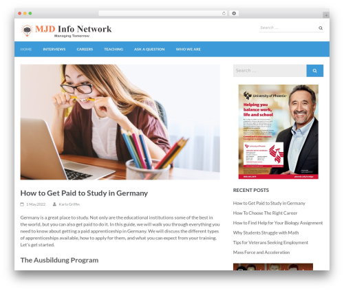 Education Zone WordPress theme download - mjds.net