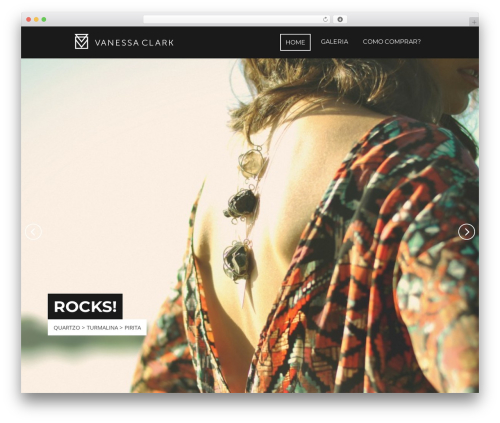 Focal WordPress website template - vanessaclark.com.br