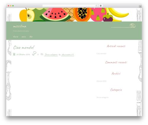 Handdrawn-lite free WordPress theme - missilina.it
