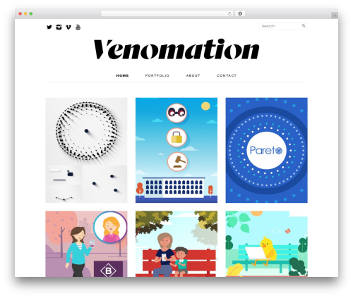 Masonry FREE Responsive Theme Premium best WordPress theme - venomation.com