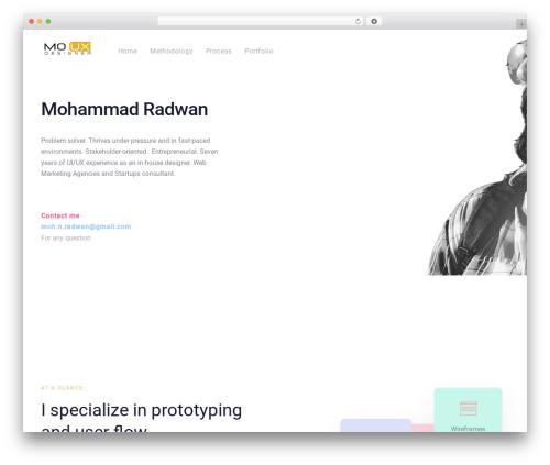 Ave personal blog WordPress theme - mo-radwan.com