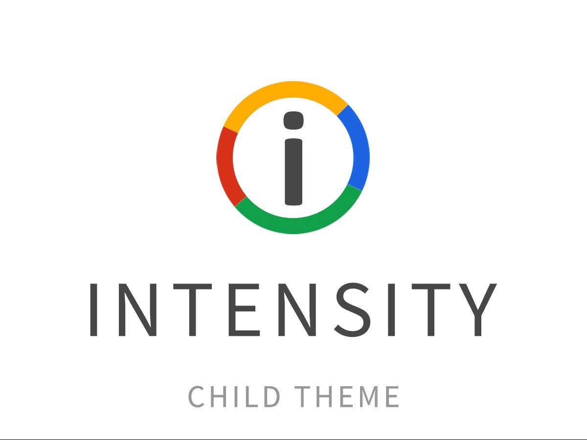 Intensity Child WordPress theme