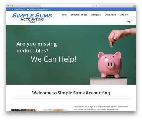 The7 WordPress website template - simplesumsaccounting.com