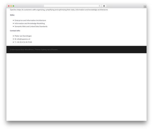 Theme WordPress Sydney - openinc.nl