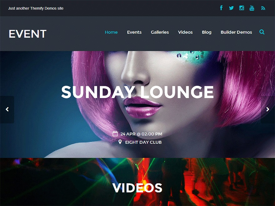 Themify Event Child WordPress theme