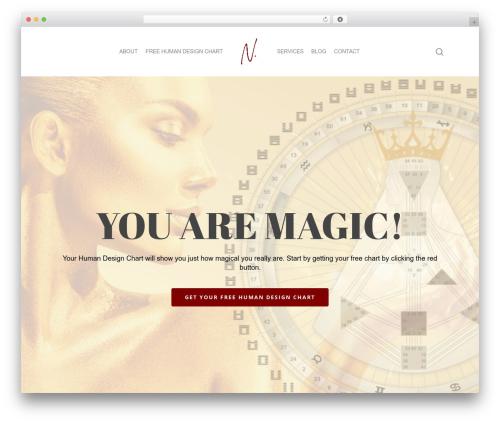Salient best WordPress template - nataliemariecollins.com
