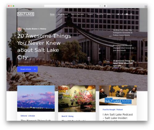 Salient WordPress theme design - saltlakeinsider.com