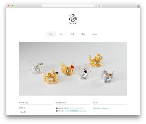 Theme WordPress Flora deux - niushiu.com