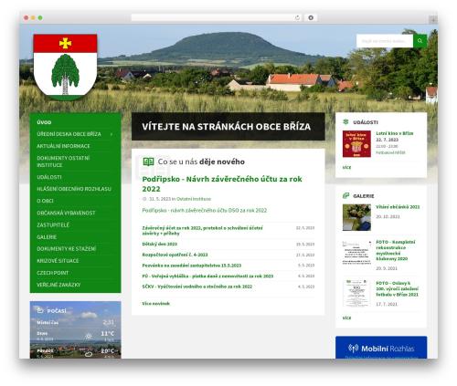 TownPress theme WordPress - obecbriza.info