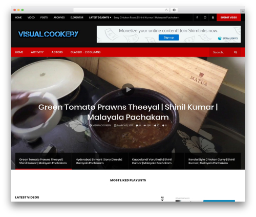 VidoRev top WordPress theme - visualcookery.com