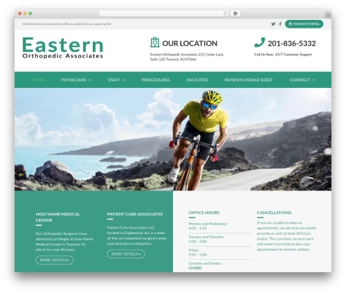 WP theme Avada - easternorthopedics.com