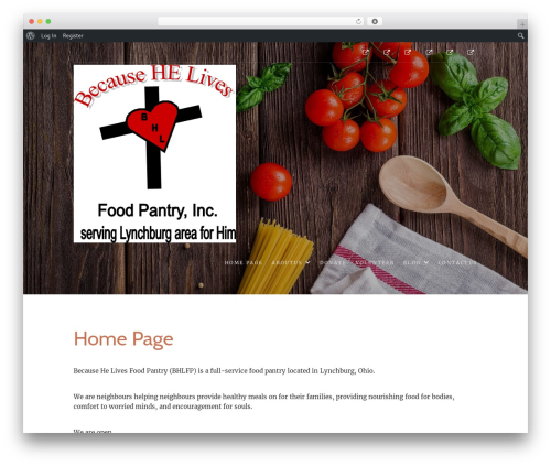 Best WordPress template Food Express - becausehelivesfoodpantry.com