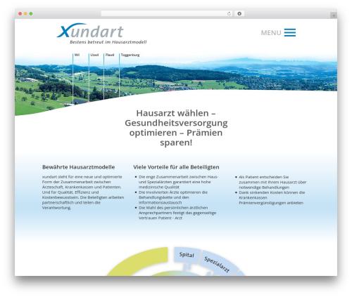 Betheme WordPress theme design - xundart.ch